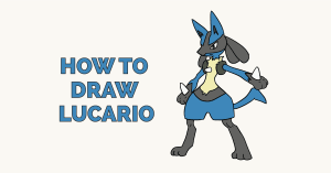How to Draw Lucario: Featured Image