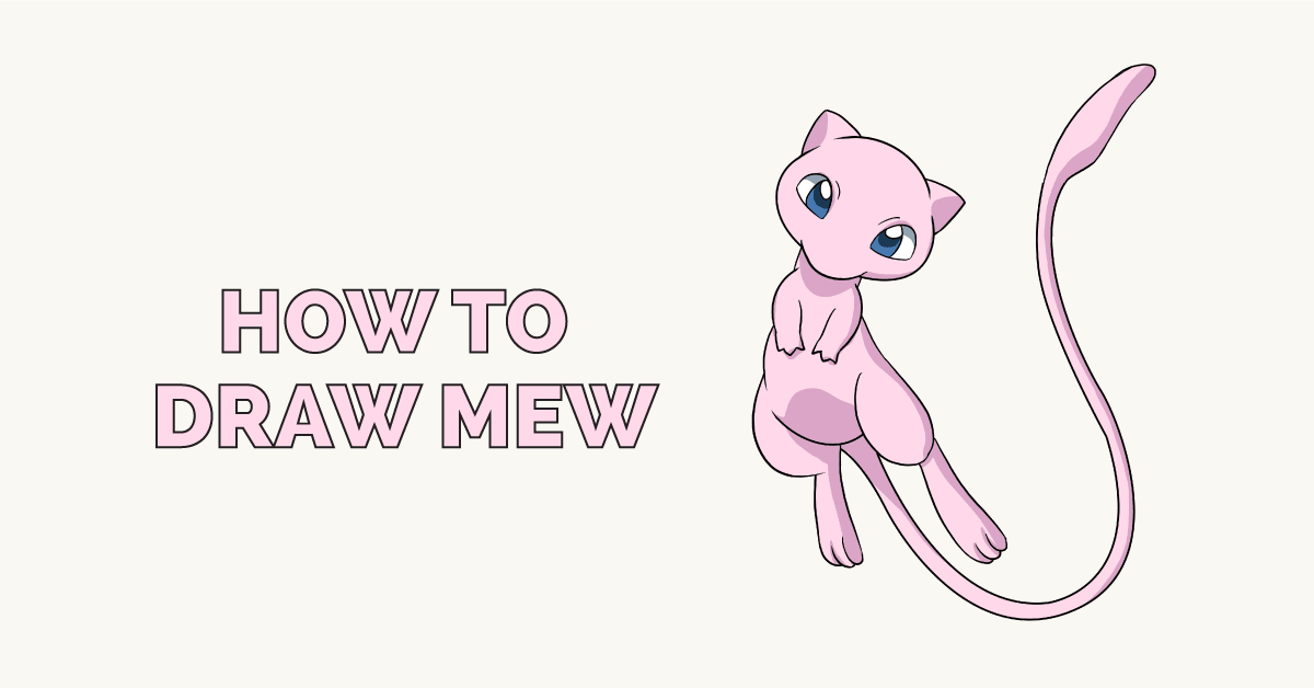 How to Draw Mew: Featured Image