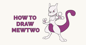 How to Draw Mewtwo: Featured Image