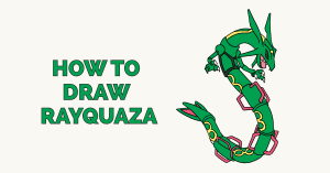 How to Draw Rayquaza: Featured Image