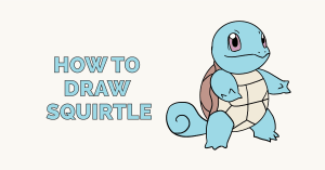 How to Draw Squirtle: Featured Image