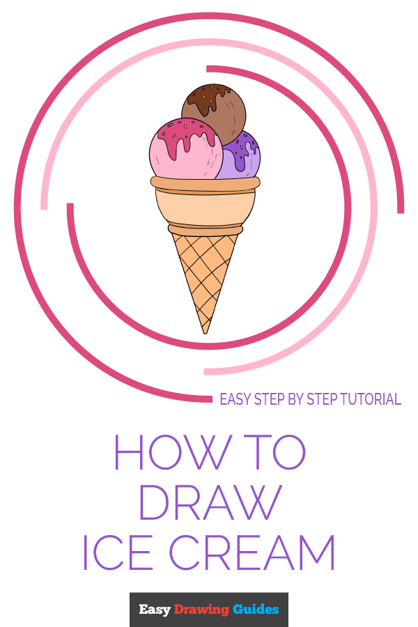 How to Draw Ice Cream | Share to Pinterest
