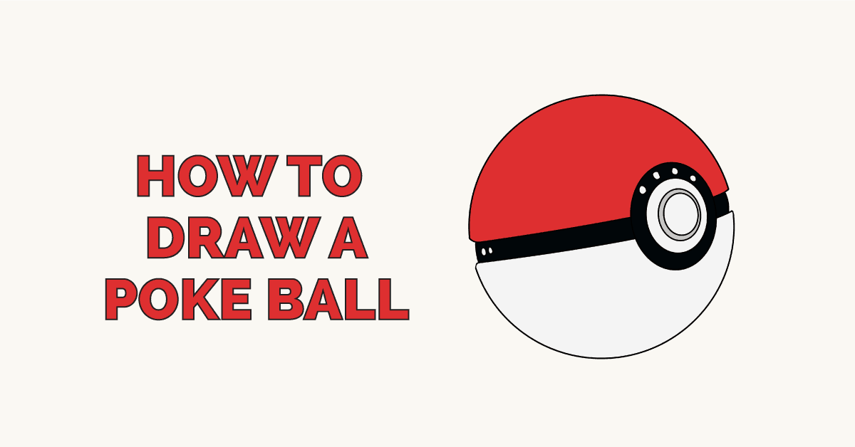 How To Draw A Poke Ball From Pokémon Really Easy Drawing