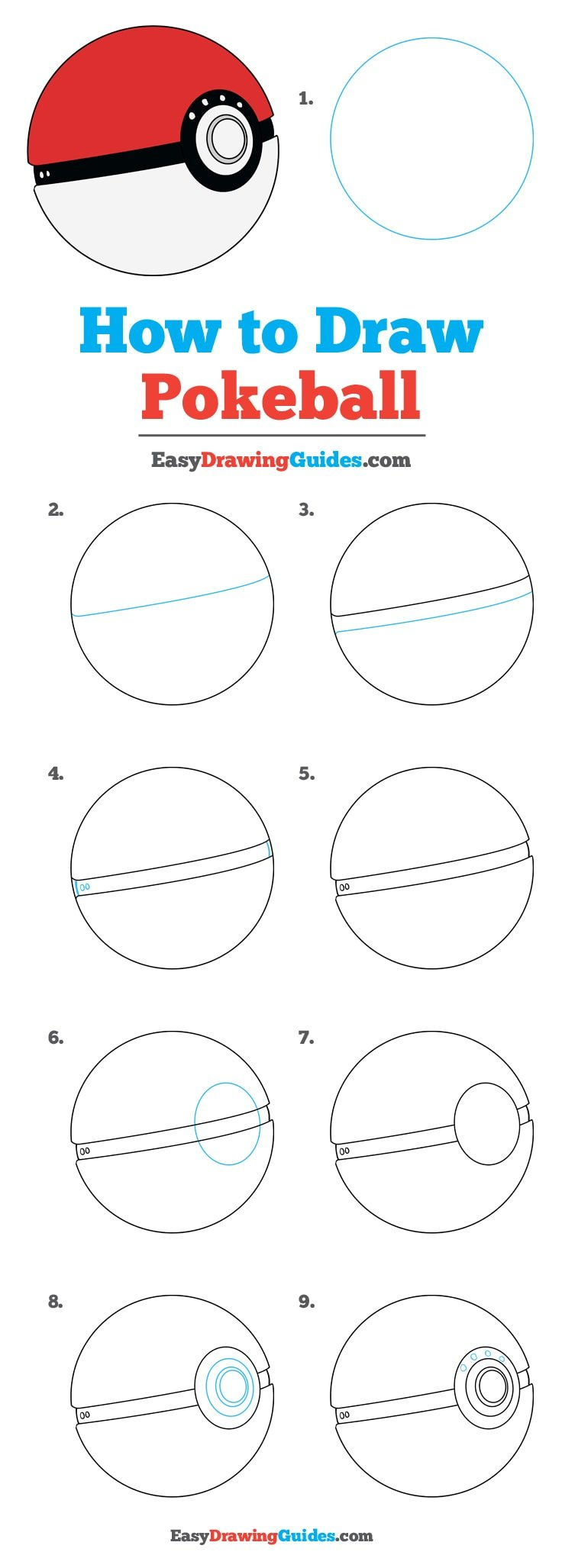 How to Draw Poke Ball