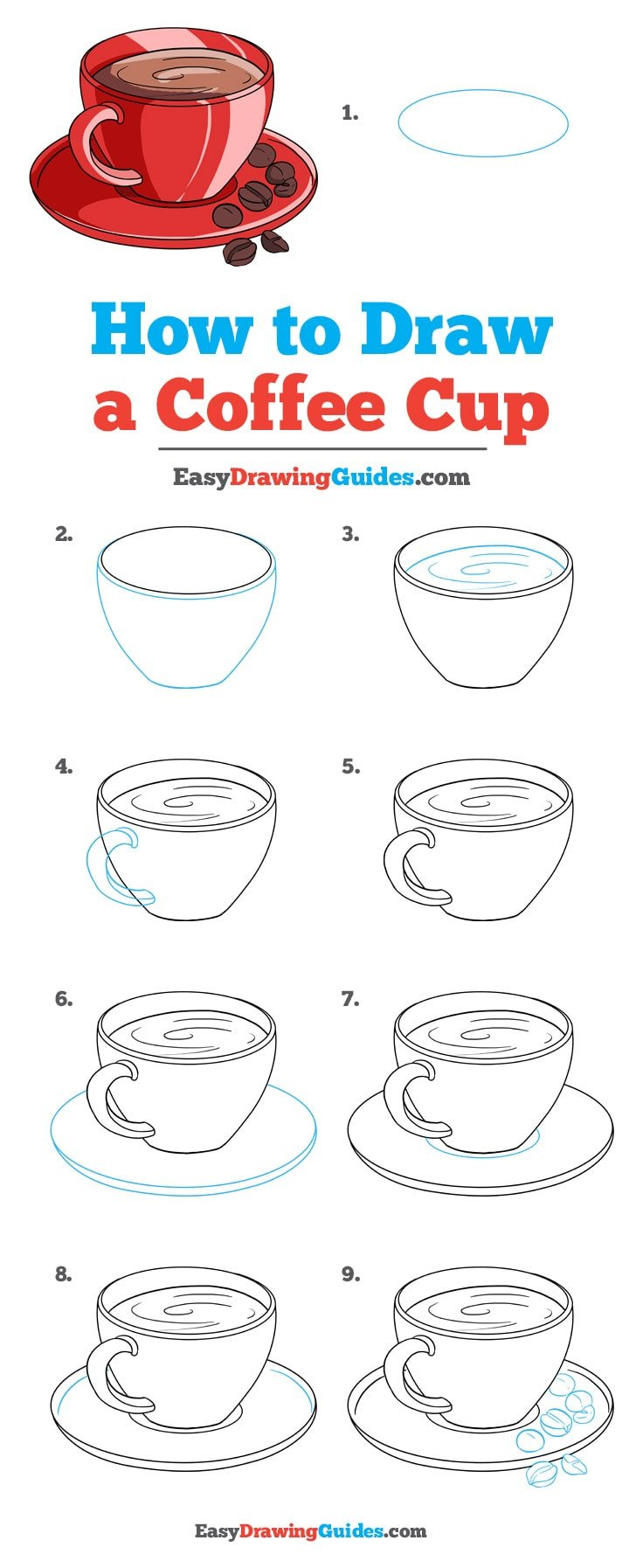 How to Draw Coffee Cup