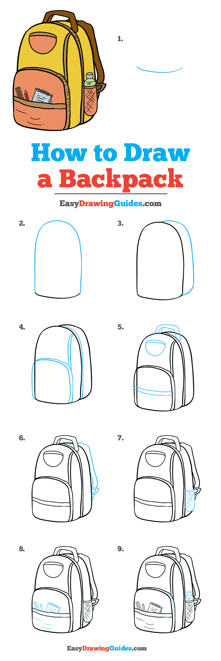 How to Draw Backpack