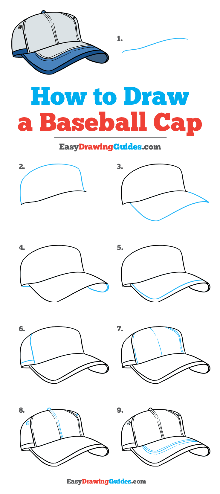 How to Draw Baseball Cap