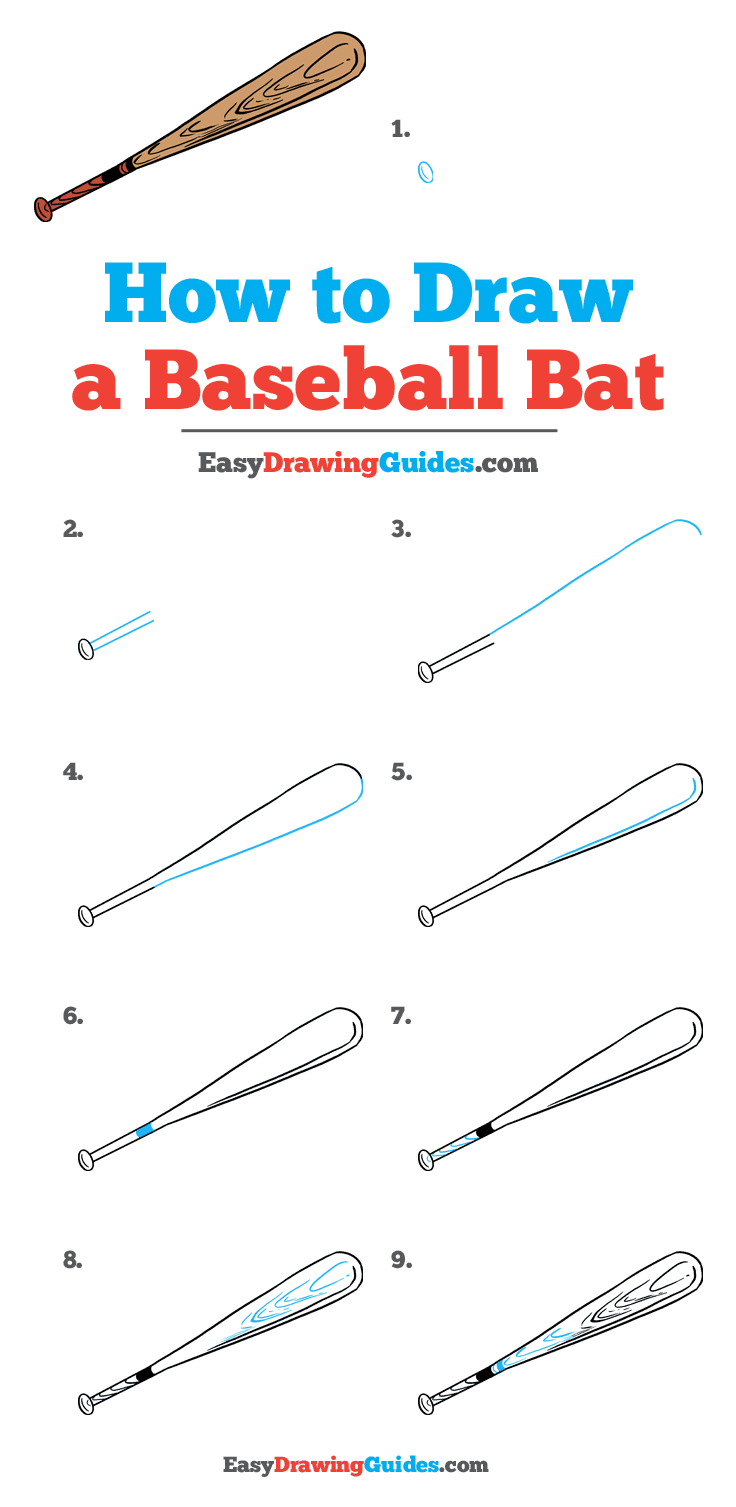 How to Draw Baseball Bat