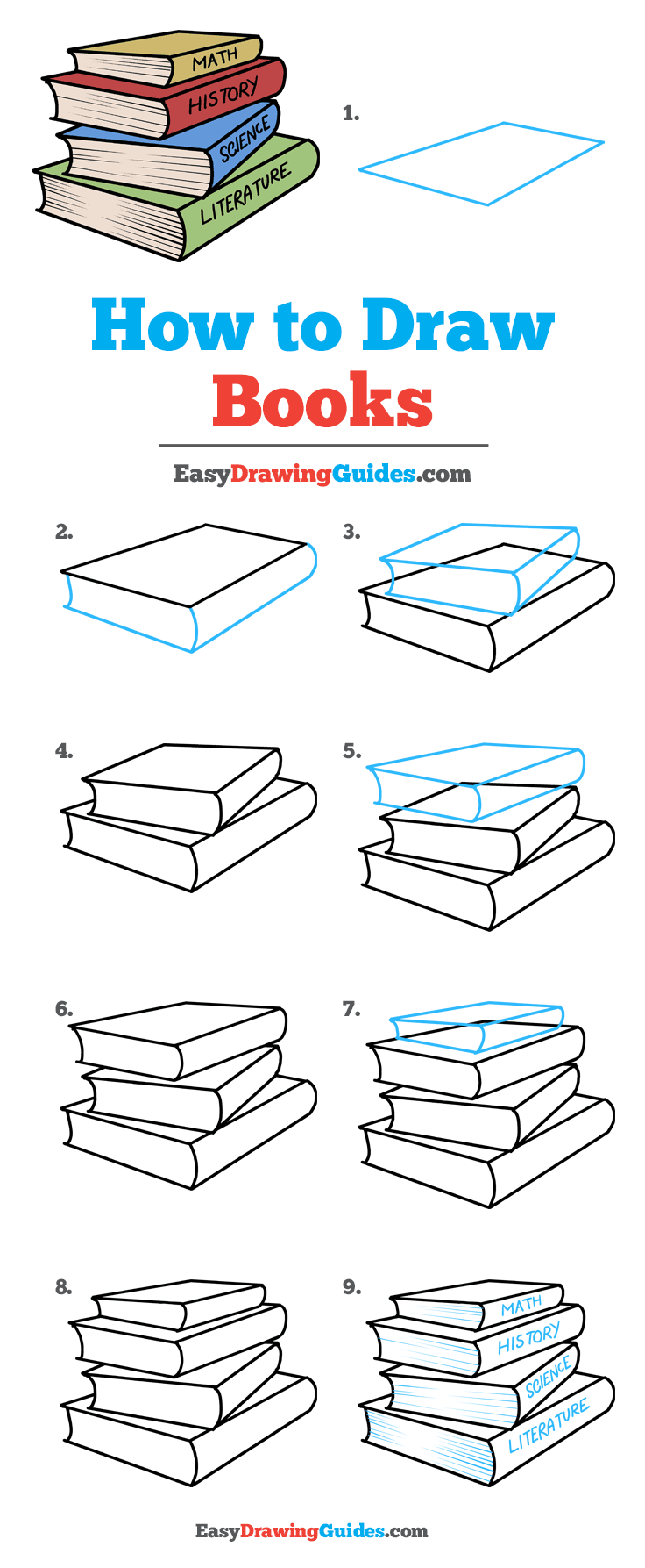 How to Draw School Books