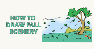 How to Draw a Fall Scenery: Featured Image