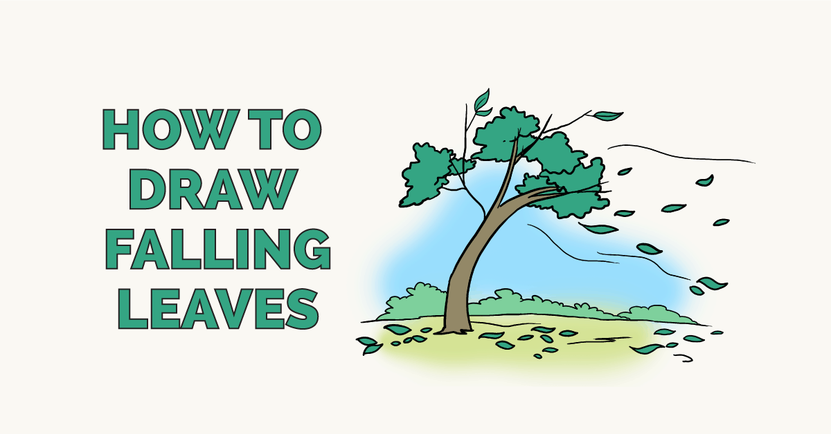 How to Draw Falling Leaves: Featured Image