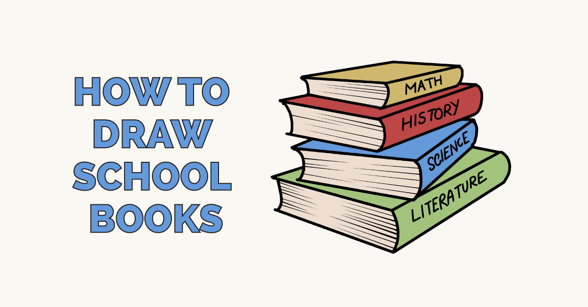 How to Draw School Books: Featured Image
