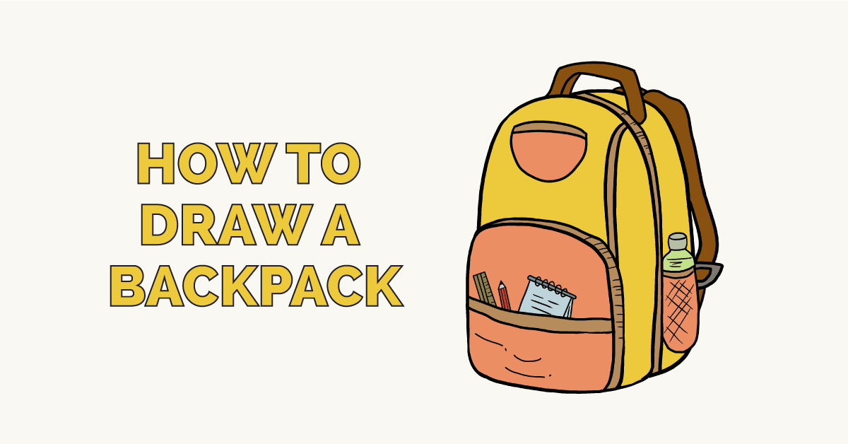 image relating to Printable Backpacks called How in direction of Attract a Backpack - Truly Very simple Drawing Guide