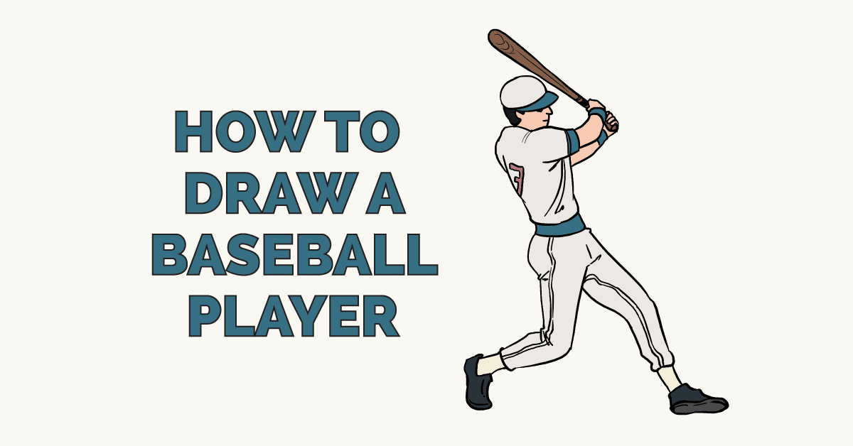 How to Draw a Baseball Player: Featured Image