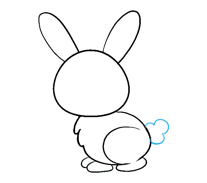 How to draw a bunny rabbit step 8