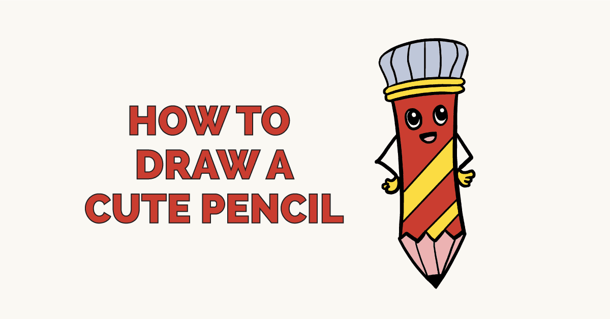How to Draw a Cute Pencil: Featured Image