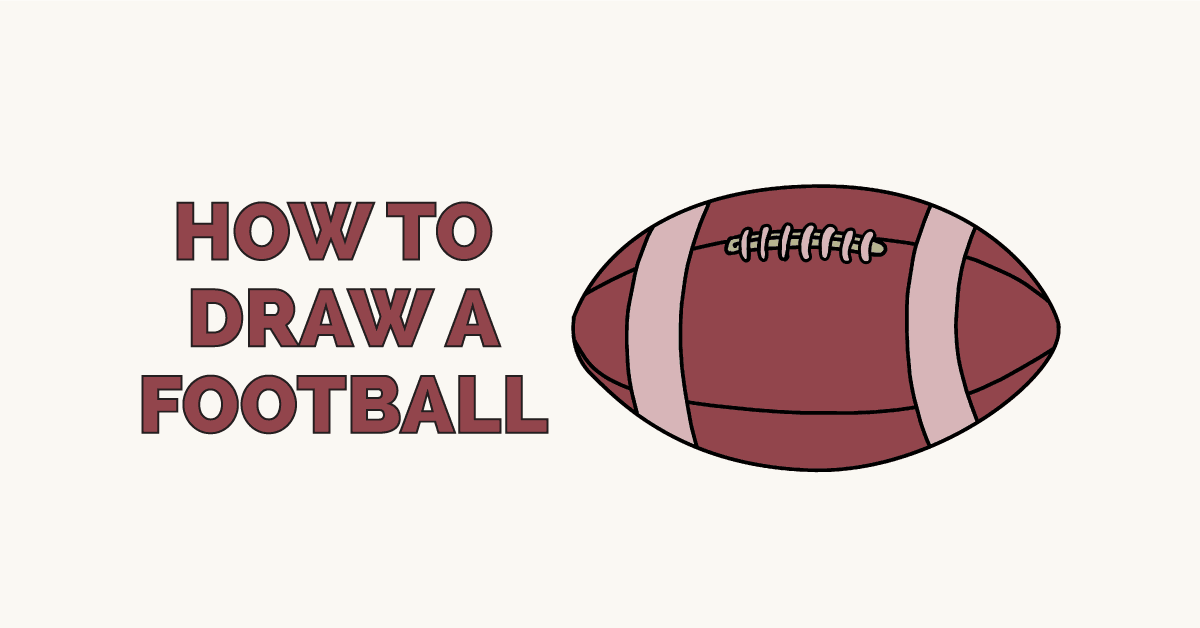 How To Draw A Football Really Easy Drawing Tutorial