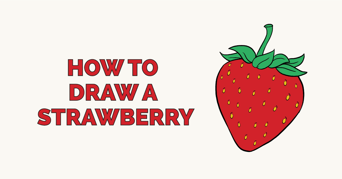 How to Draw a Strawberry: Featured Image