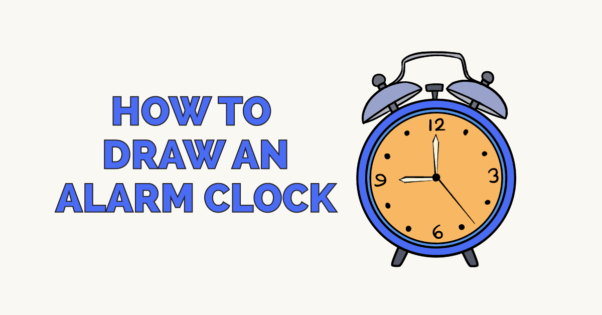 How To Draw An Alarm Clock Really Easy Drawing Tutorial