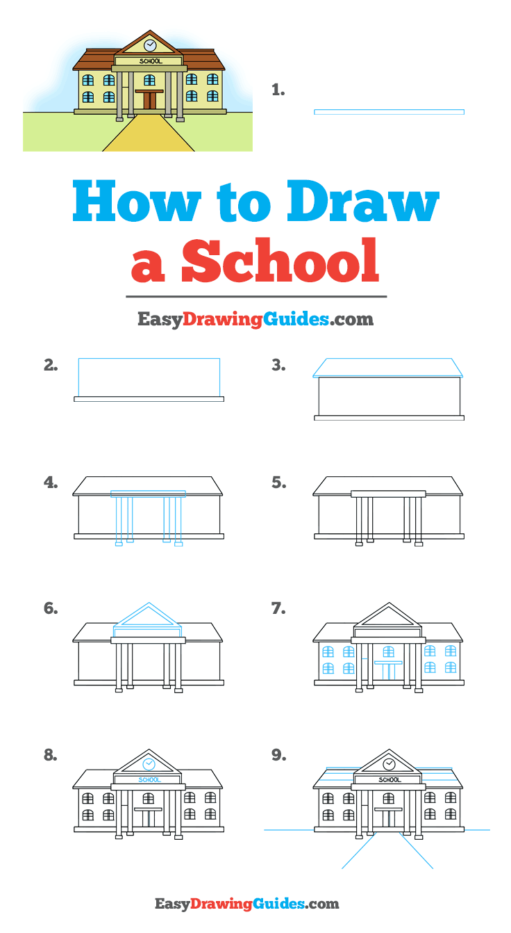 How to Draw School