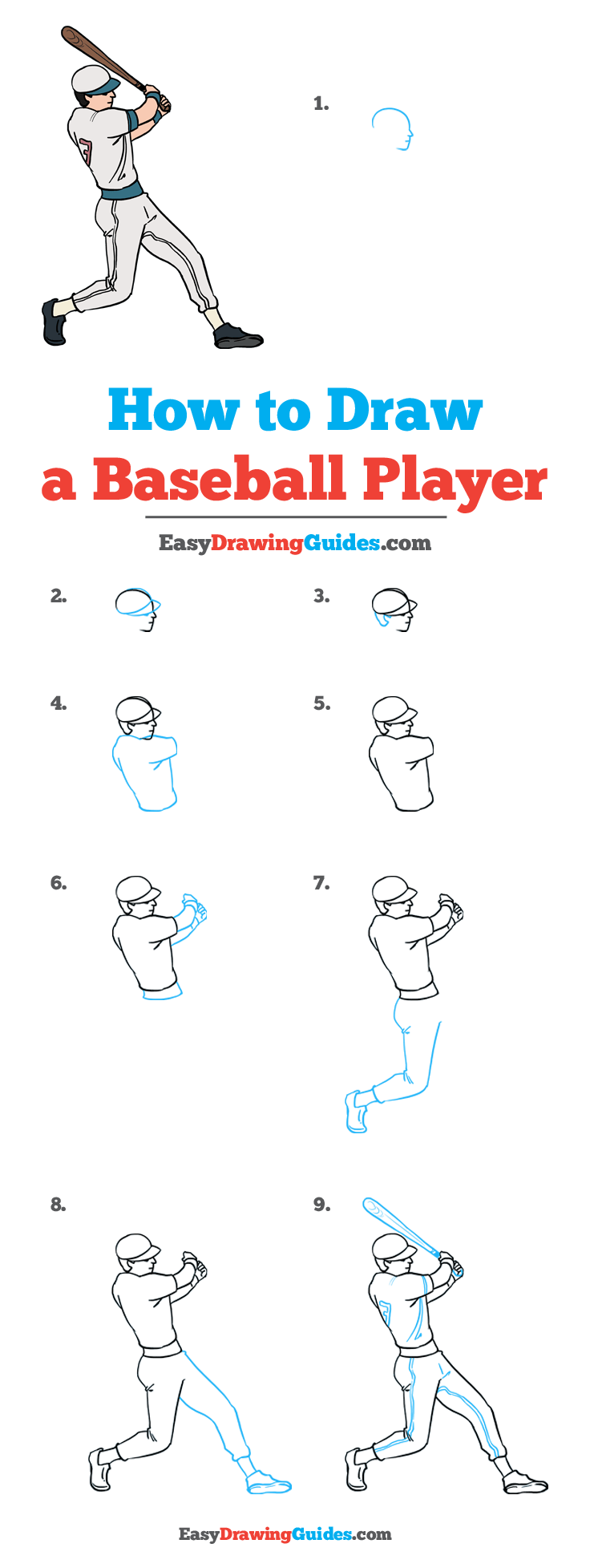 How to Draw a Baseball Player: Step by Step Tutorial