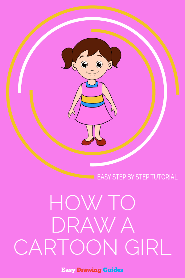 How to Draw Cartoon Girl | Share to Pinterest