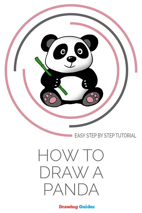 How to draw a panda- pinterest image