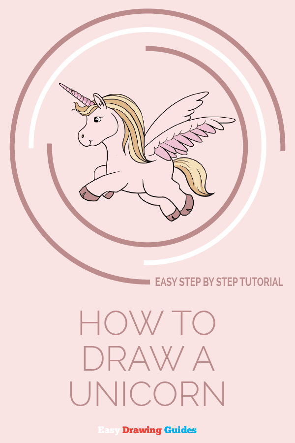 How to draw a unicorn - pinterest image