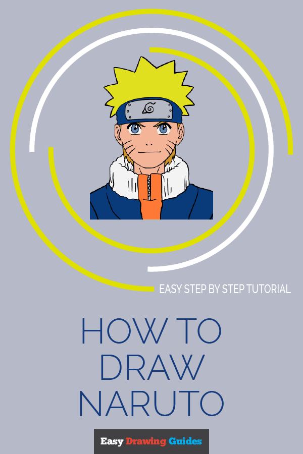 How to draw Naruto - pinterest image