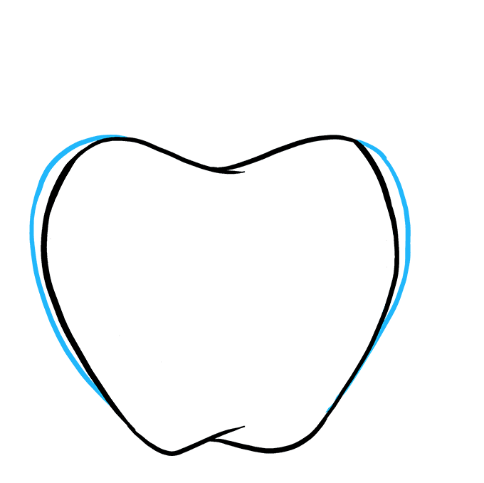 How to Draw Apple: Step 6