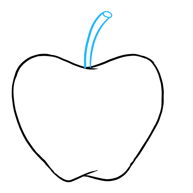 How to Draw Apple: Step 8