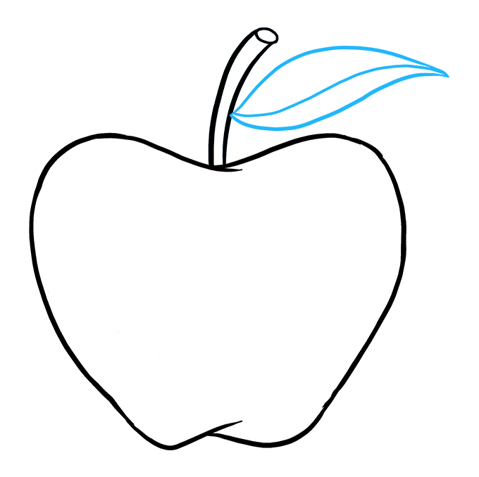 How to Draw Apple: Step 9