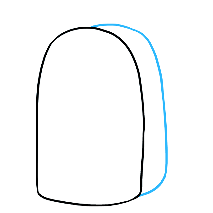 How to Draw Backpack: Step 3