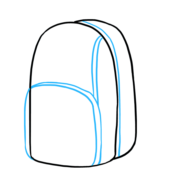 How to Draw Backpack: Step 4