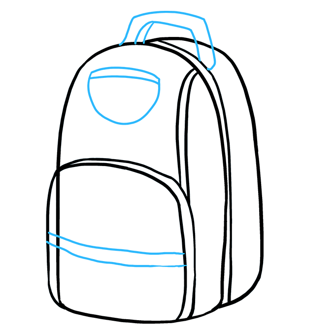 How to Draw Backpack: Step 5