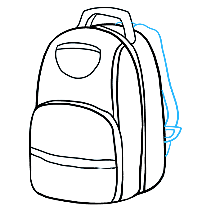 How to Draw Backpack: Step 6