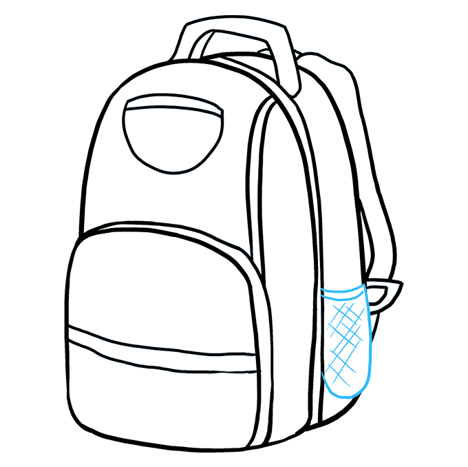 How to Draw Backpack: Step 7