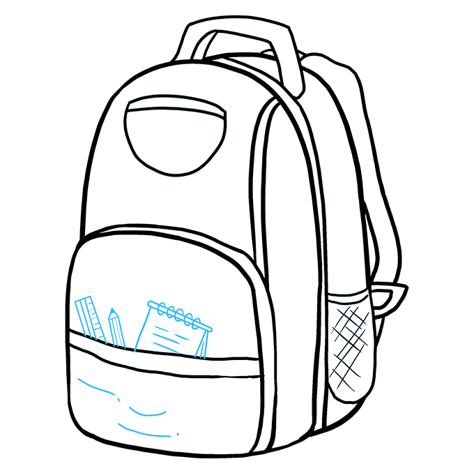 How to Draw Backpack: Step 8