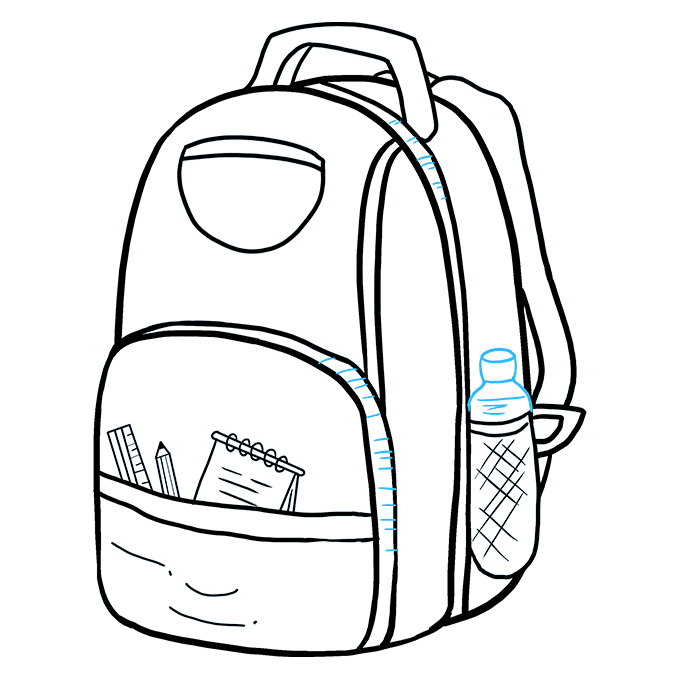 How to Draw Backpack: Step 9