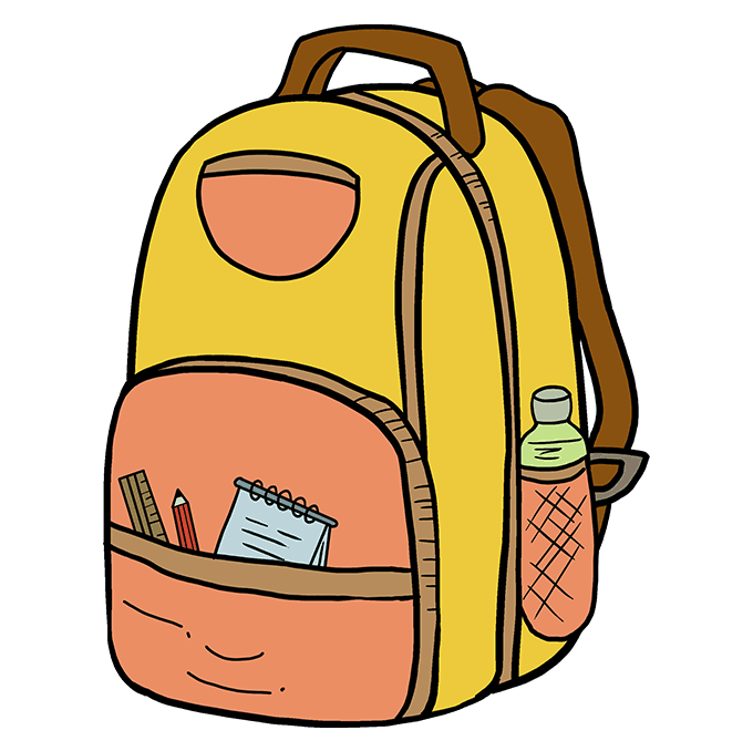 How to Draw Backpack: Step 10