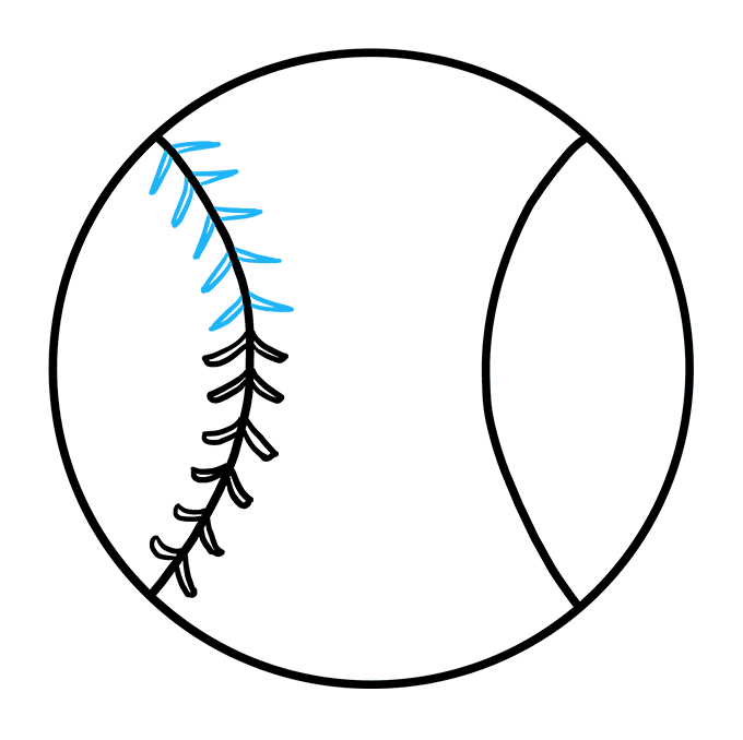 How to Draw Baseball: Step 5