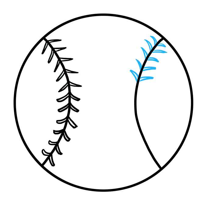 How to Draw Baseball: Step 6