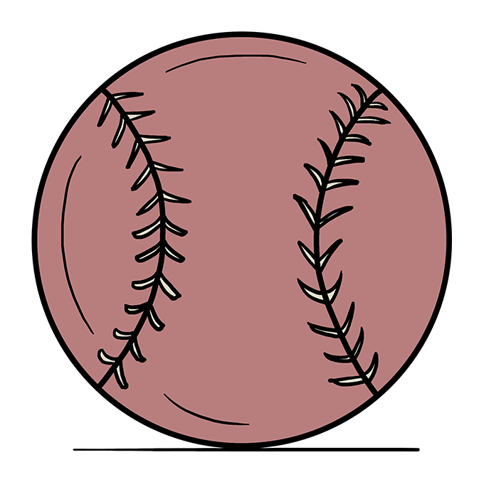 How to Draw Baseball: Step 10