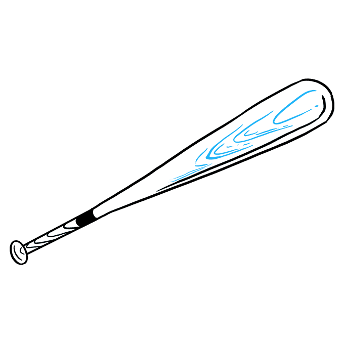 How to Draw Baseball Bat: Step 8