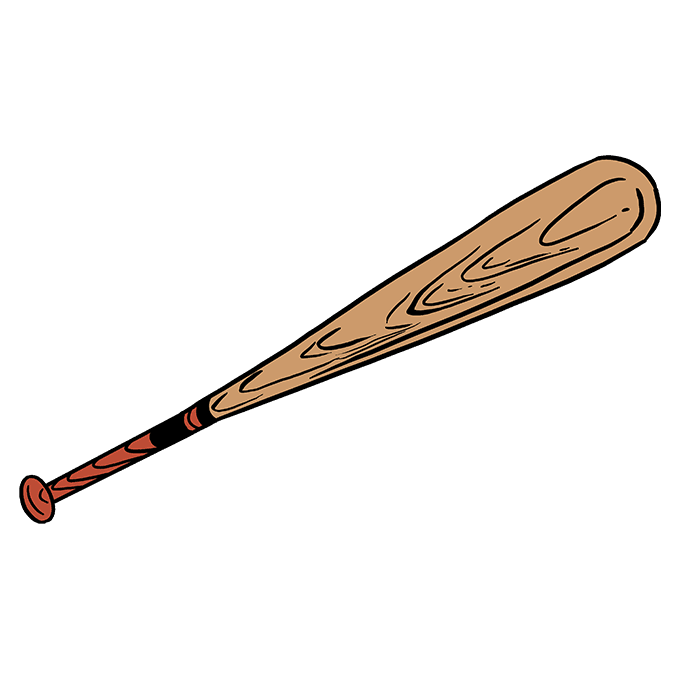 How to Draw Baseball Bat: Step 10