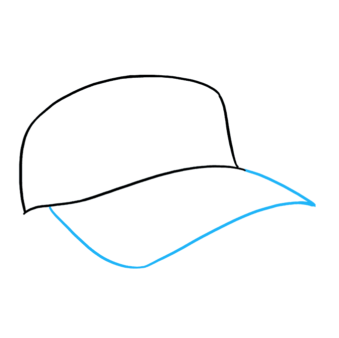 How to Draw Baseball Cap: Step 3