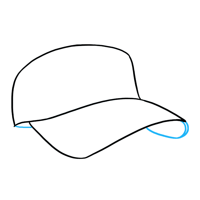 How to Draw Baseball Cap: Step 4
