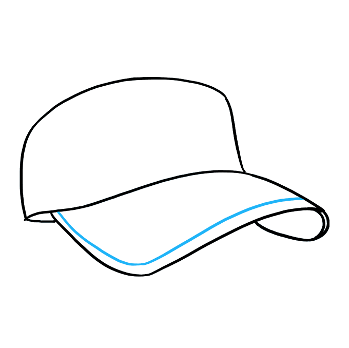 How to Draw Baseball Cap: Step 5
