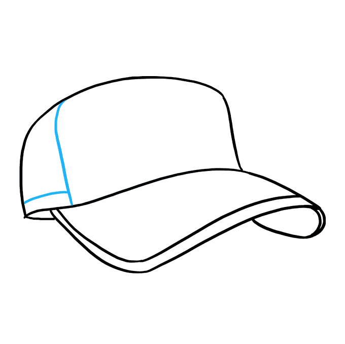 How to Draw Baseball Cap: Step 6