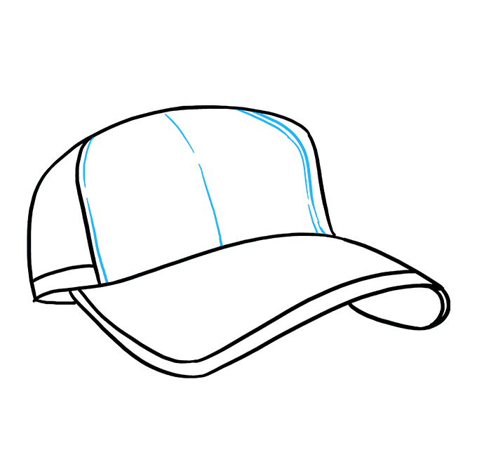 How to Draw Baseball Cap: Step 7